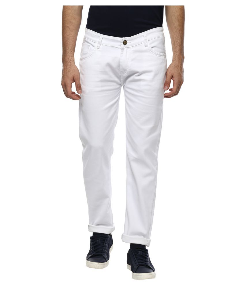 Urbano Fashion White Slim Jeans