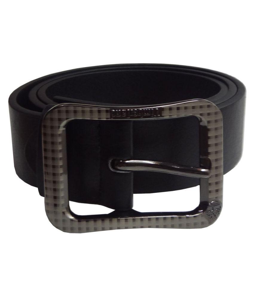 Woap Black PU Casual Belts