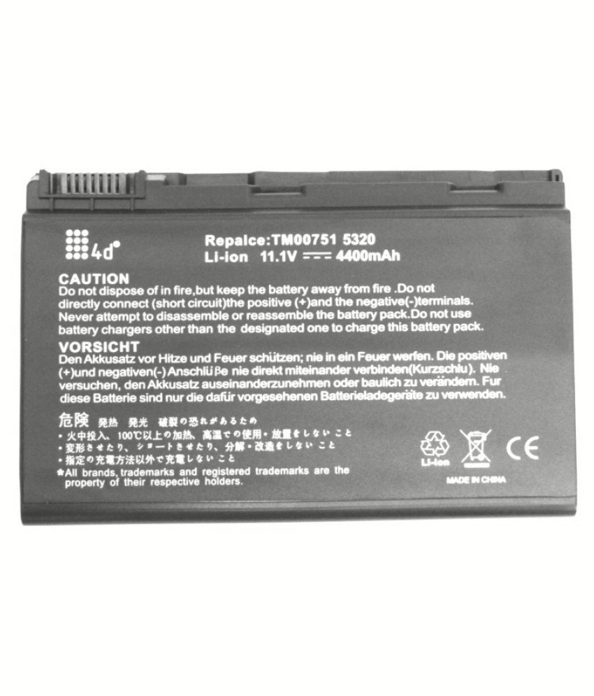 4d Laptop Battery Compatible For Acer 5320 Battery