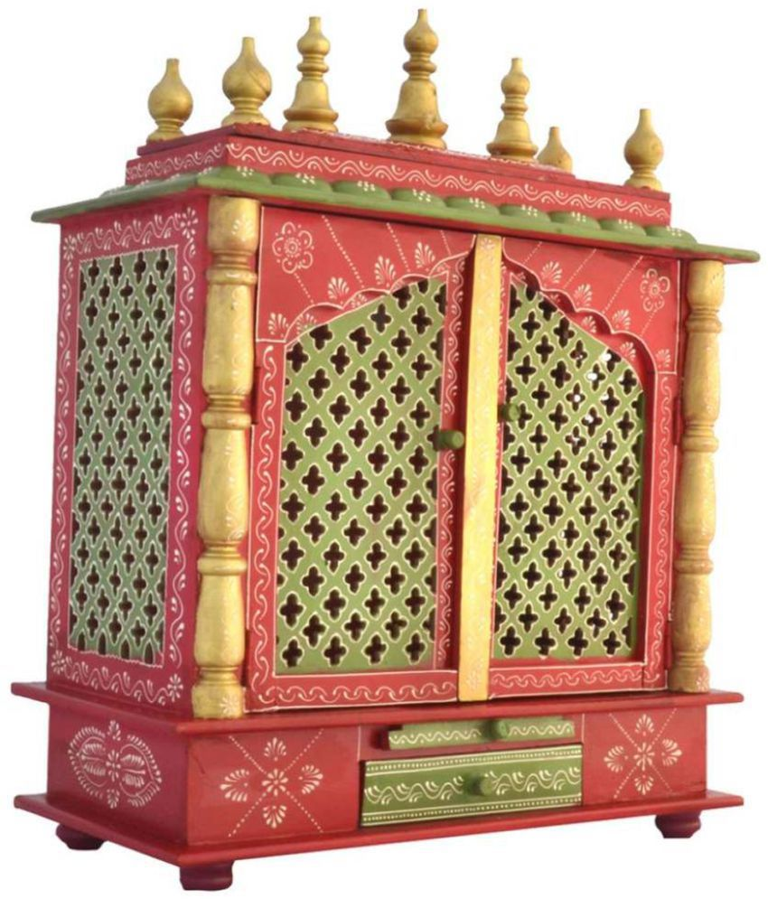 Home Decoration Multicolour Wood Hanging Mandir Buy Home