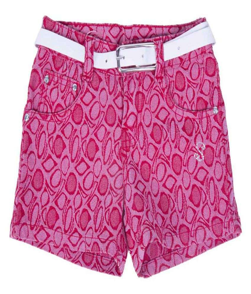 Titli Girls Pink Shorts