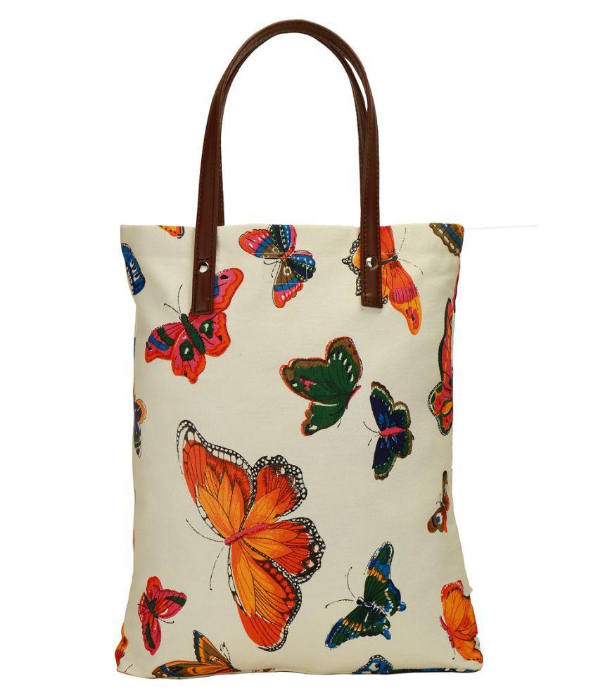 Lugo White Canvas Tote Bag