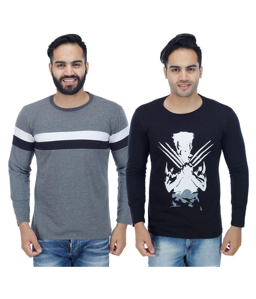 Rakshita's Collection Multi Round T-Shirt Pack of 2