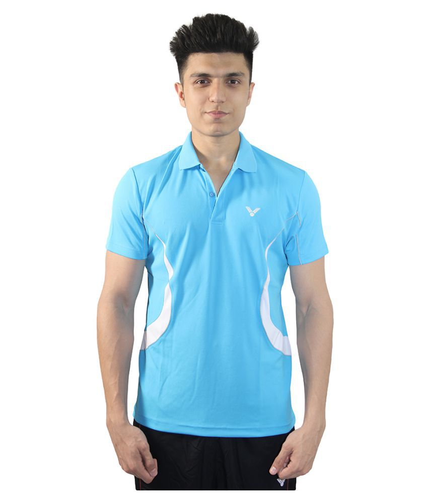 Victor Blue Polyester T Shirt