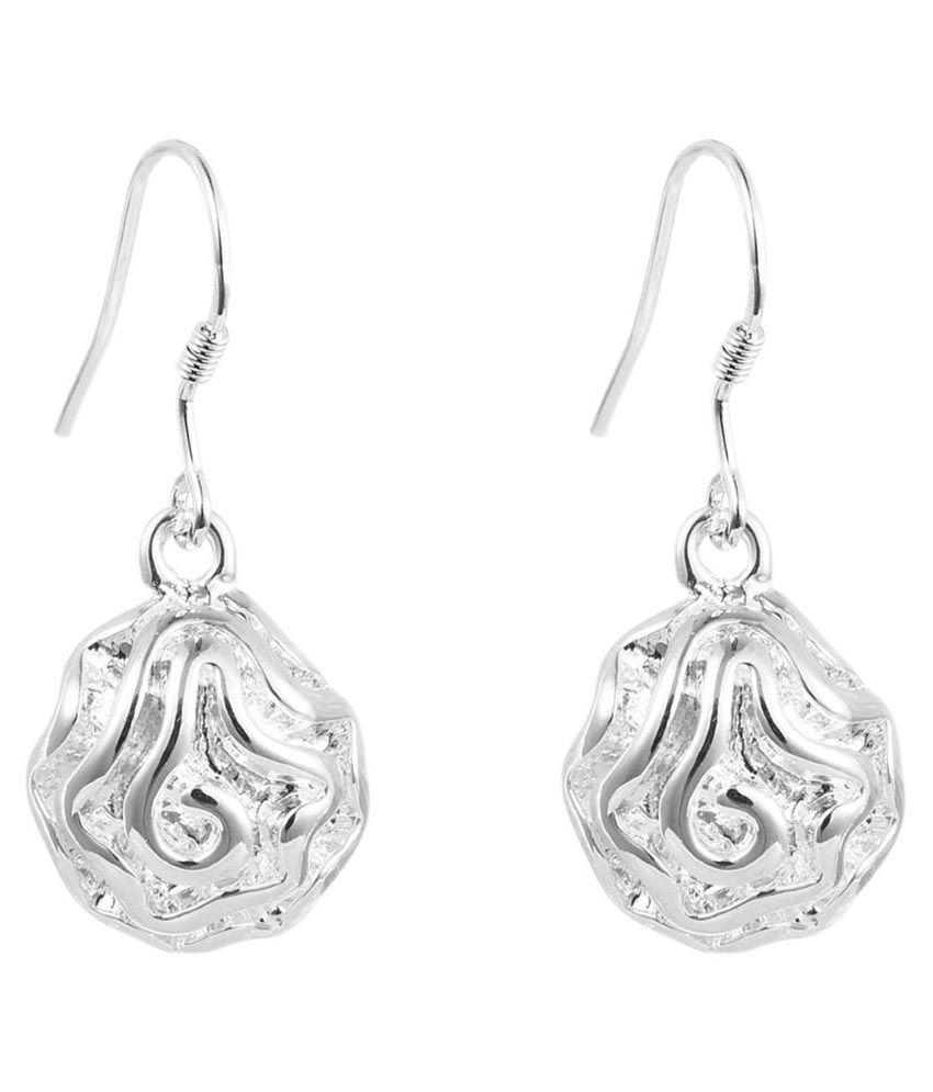 Silver Shoppee Silver Drop Earrings