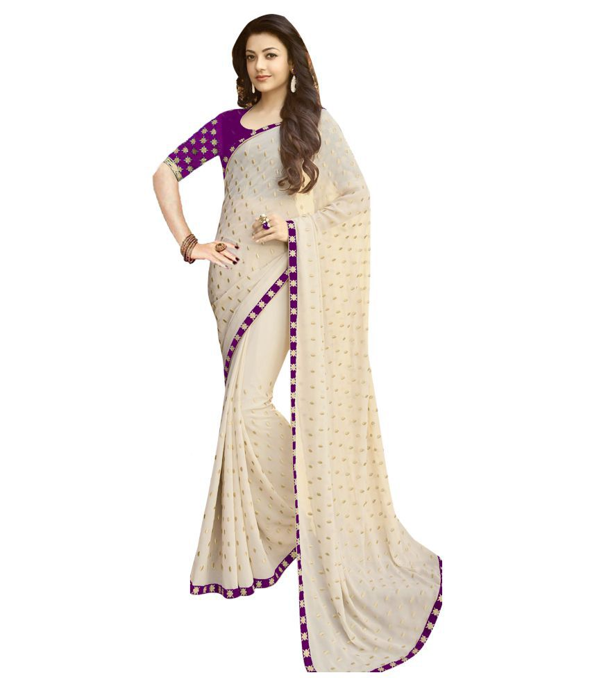 Active Feel Free Life Beige Georgette Saree