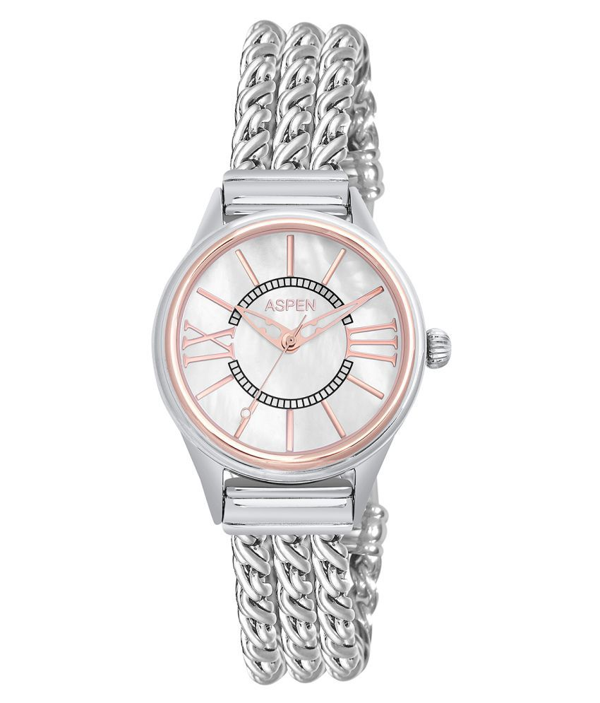 Aspen Silver Analog Watch for Ladies