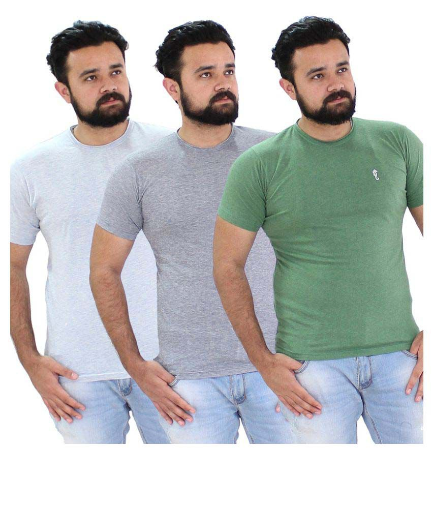 Portobello Multi Round T-Shirt Pack of 3