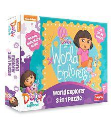 Funskool Dora World Explorer 3 in1 Combo Puzzle