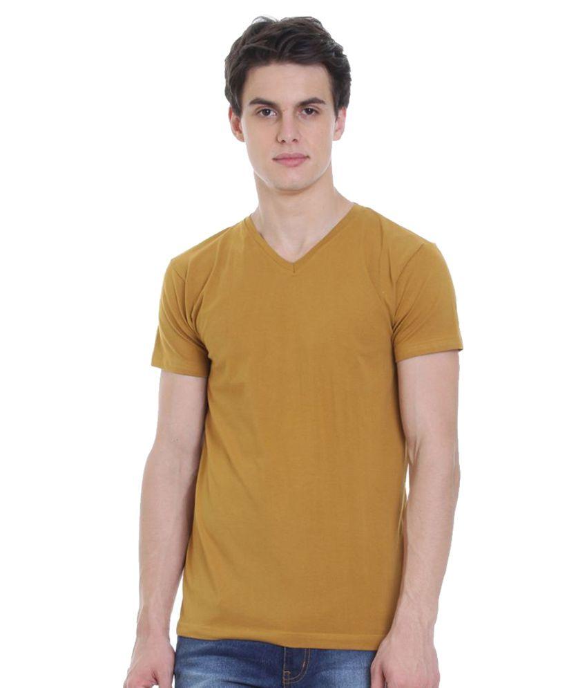 Rocx Beige V-Neck T-Shirt