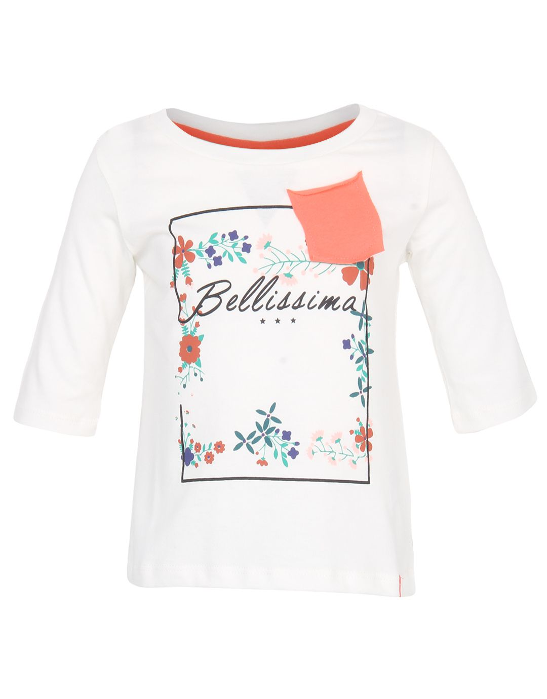 United Colors Of Benetton Off White Baby Tshirts & Tops