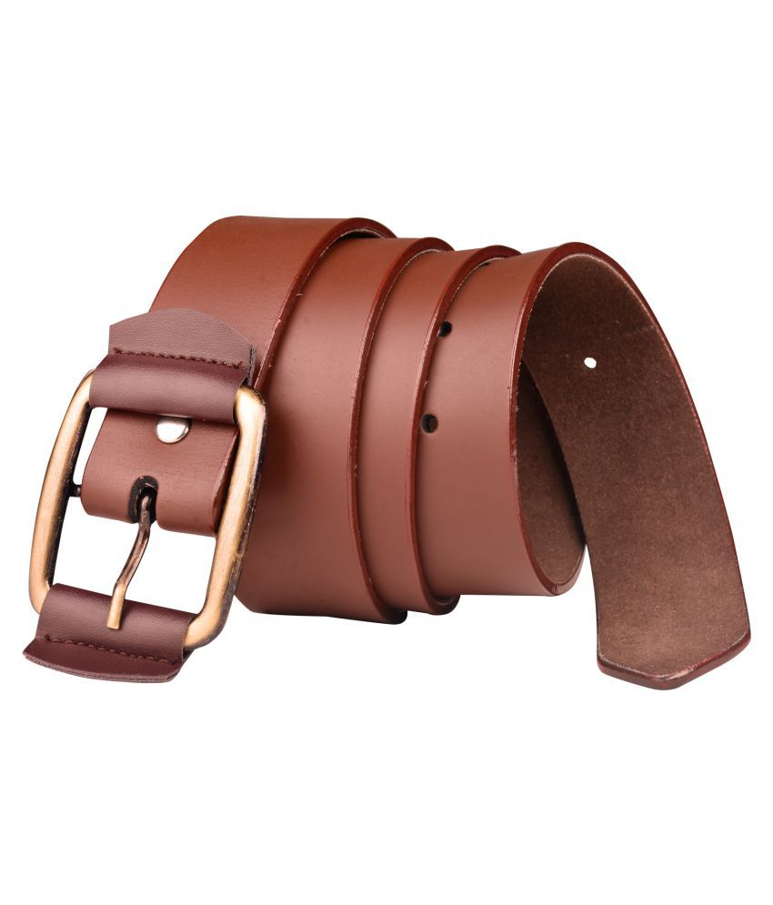Priya Collection Brown Rubber Formal Belts