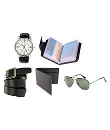 Rio Combos of Wallet, Belt, Wrist Watch, Sunglasses and Leather Card Holder