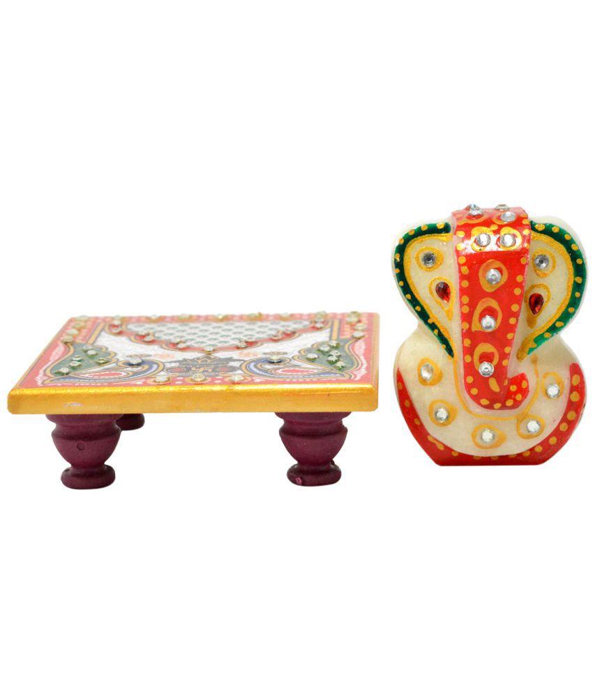 Crafts For You Laxmi Ganesh Marble Idol