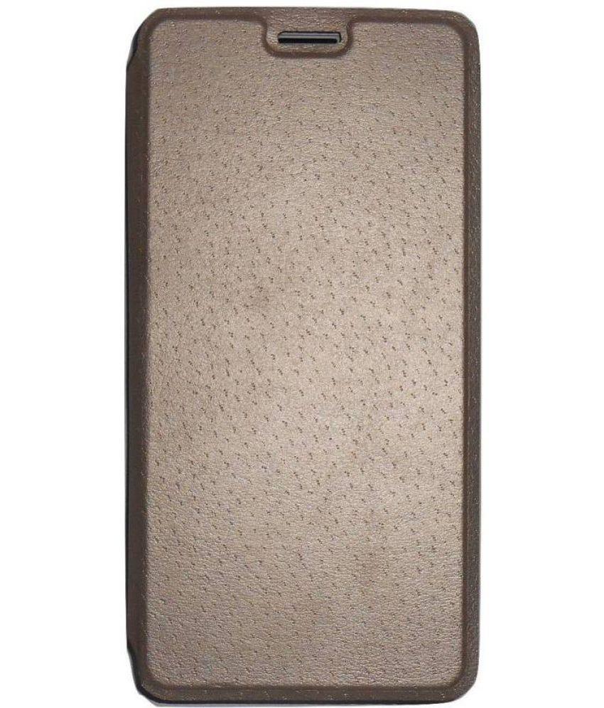Lava X11 4G Flip Cover by Sellnxt - Golden