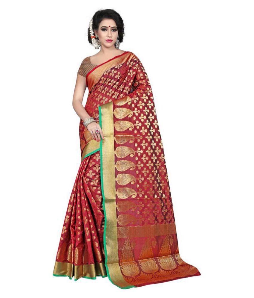 Aksh Fashion Multicoloured Banarasi Silk Saree