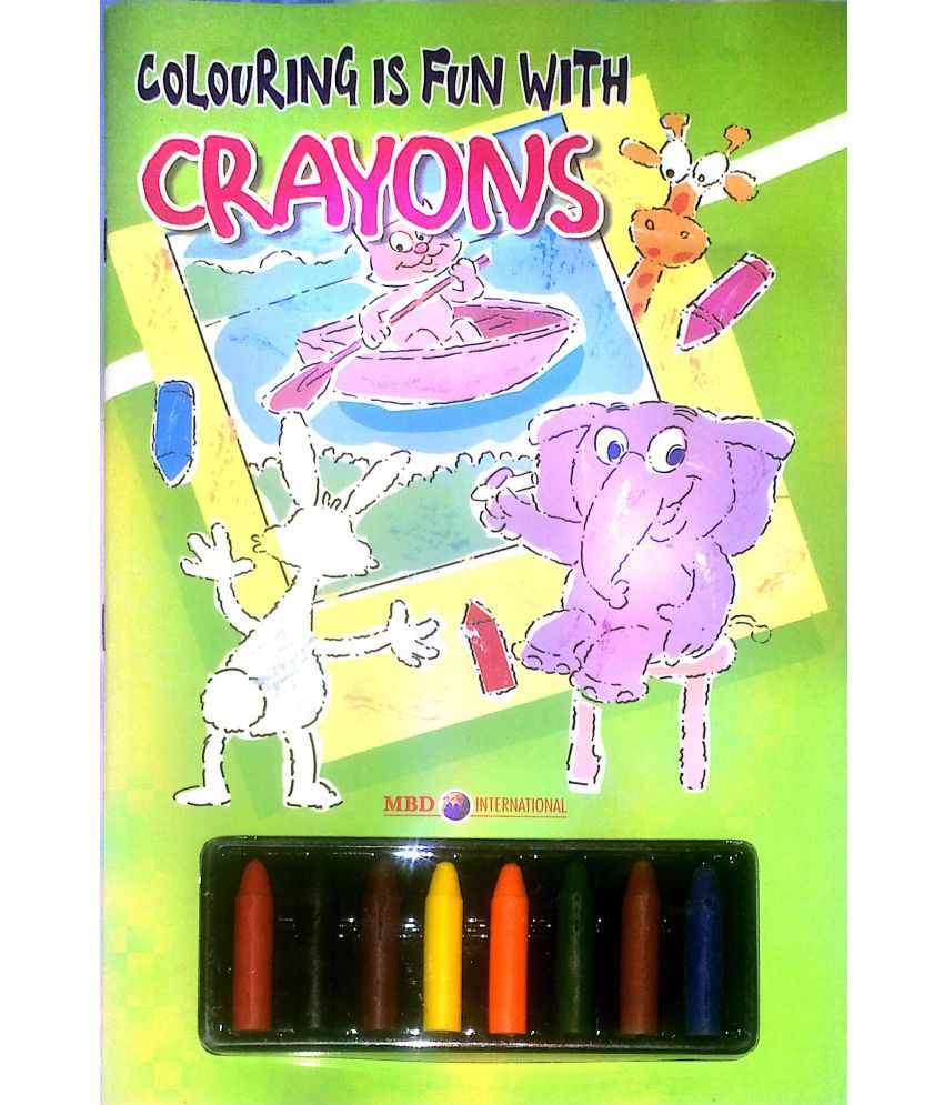 Colouring is fun books - set of 4 with Free Crayons FREE!: Buy ...