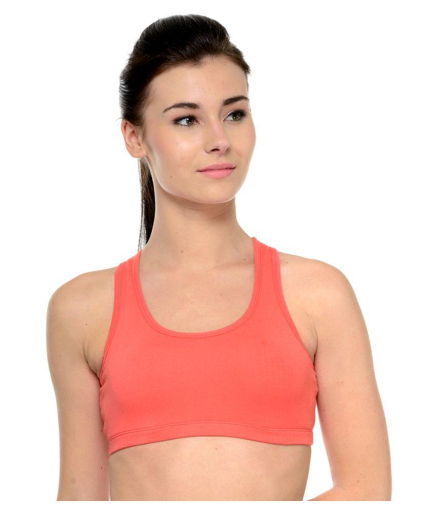 Restless Pink Cotton Sports Bra