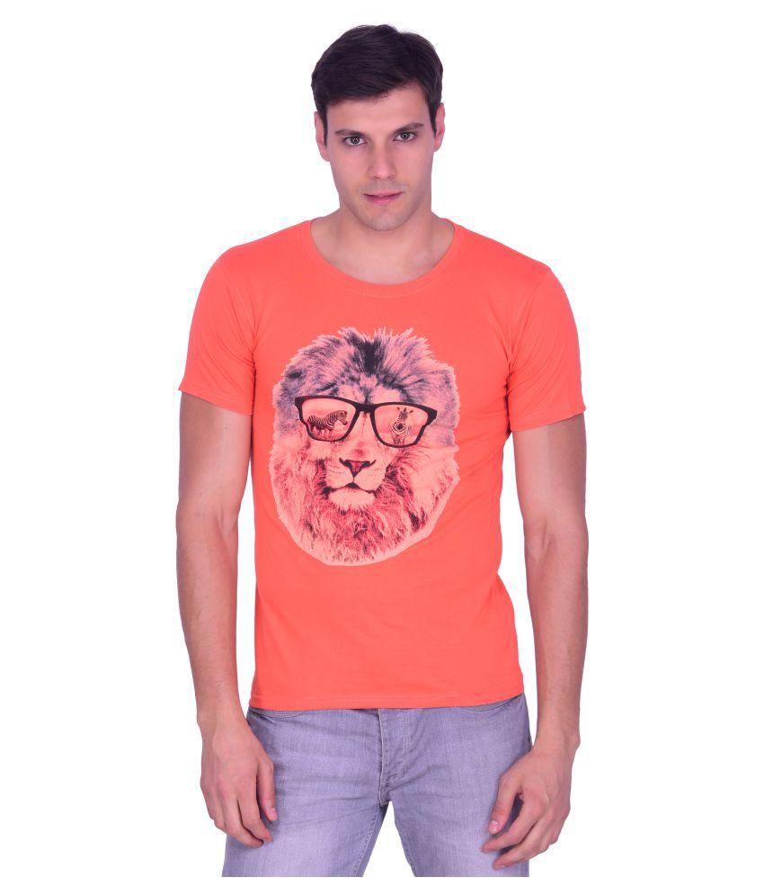 Burbn Orange Round T-Shirt