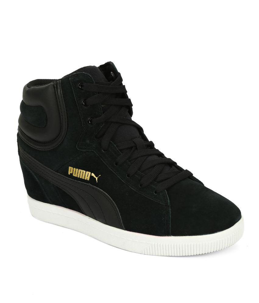Puma Vikky Wedge Black Lifestyle Shoes ...