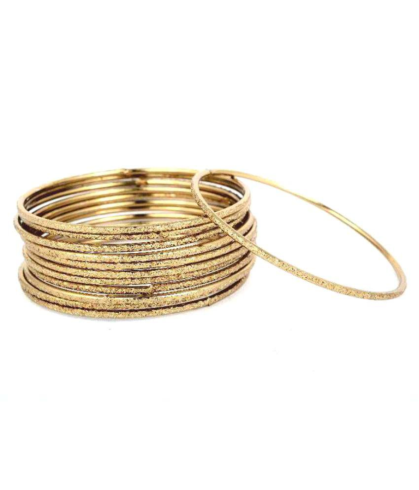 Reeti Fashions Traditional Golden Copper  Bangles(set of 12)