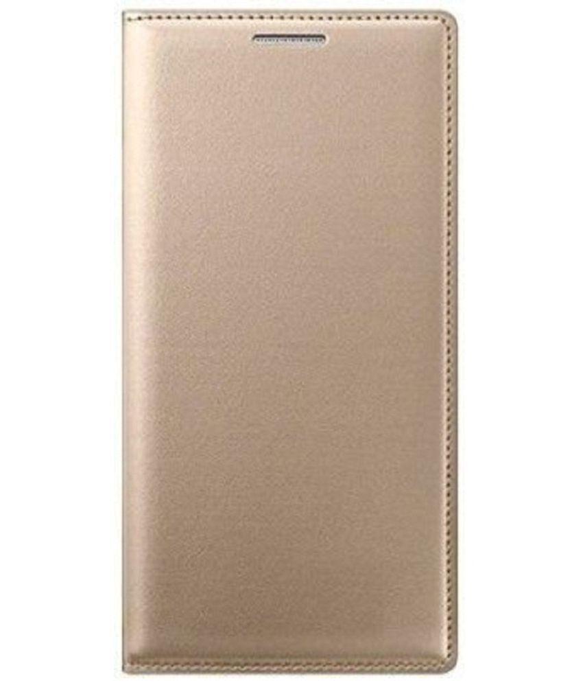 Samsung Galaxy E5 Flip Cover by Shanice - Golden