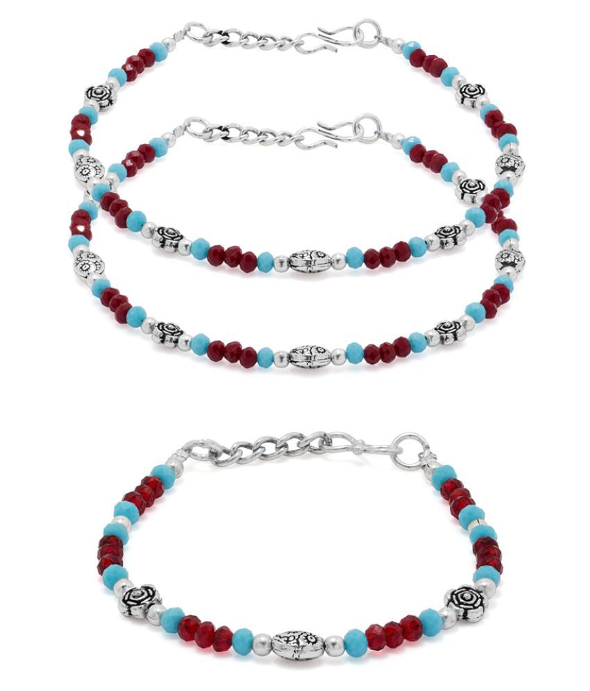 Voylla Bracelet and Pair of Anklet Stunning Combo
