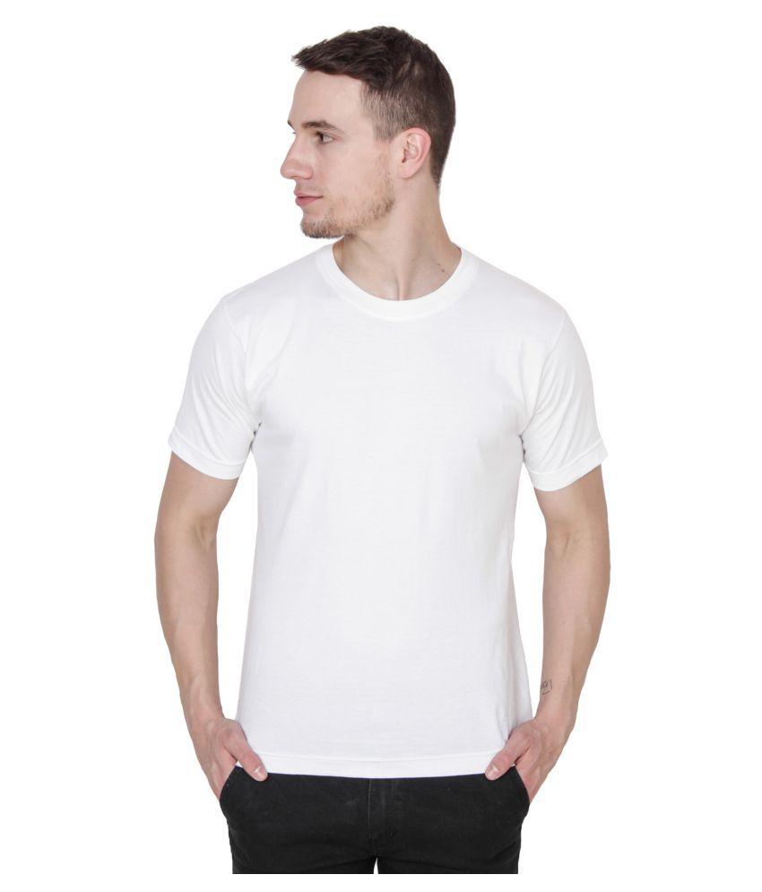 Xee White Round T-Shirt