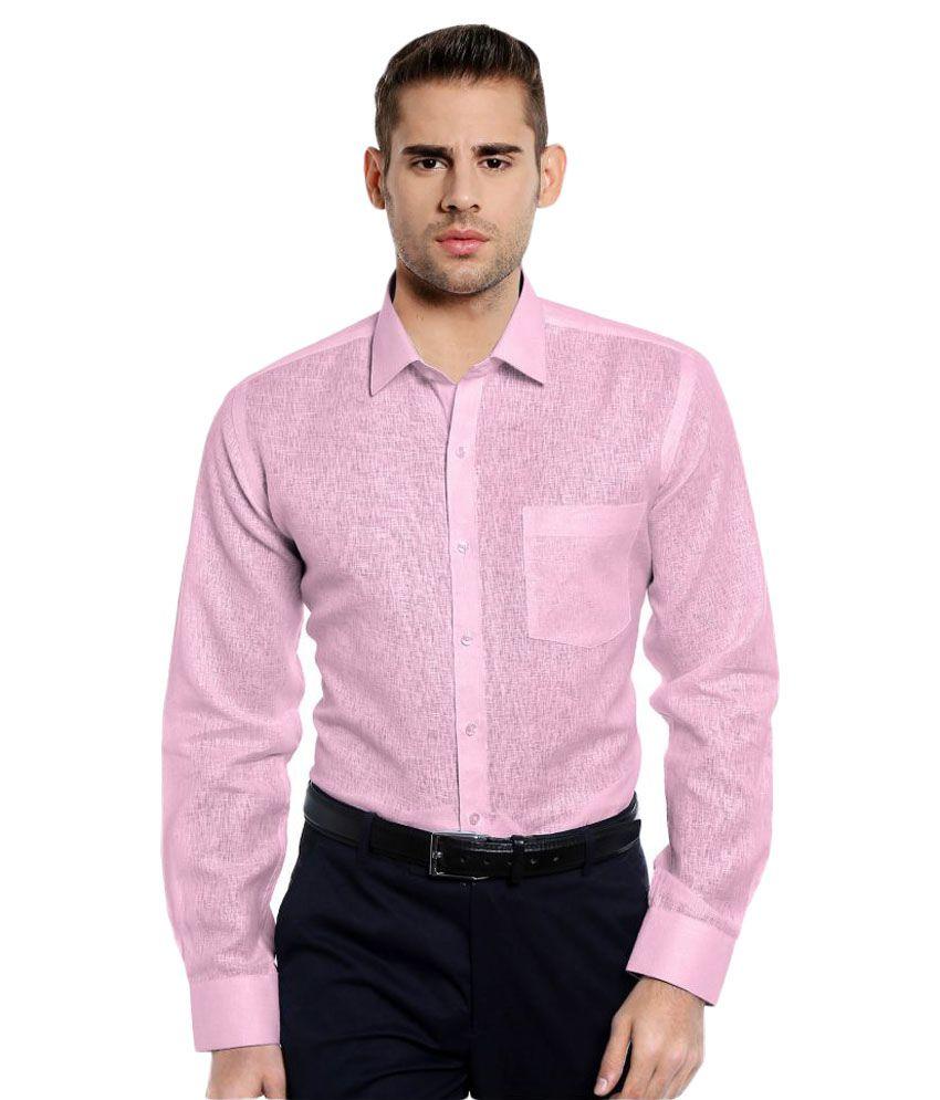 RG Designers Pink Formal Slim Fit Shirt