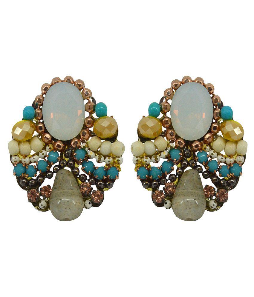 Saloni Fashion Jewellery Multicolour Stud Earrings