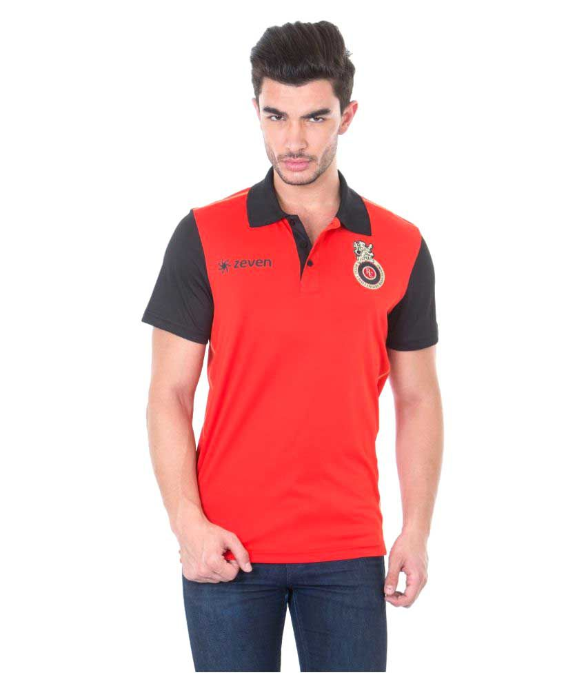 Royal Challengers Bangalore Polo Neck T-Shirt for Men