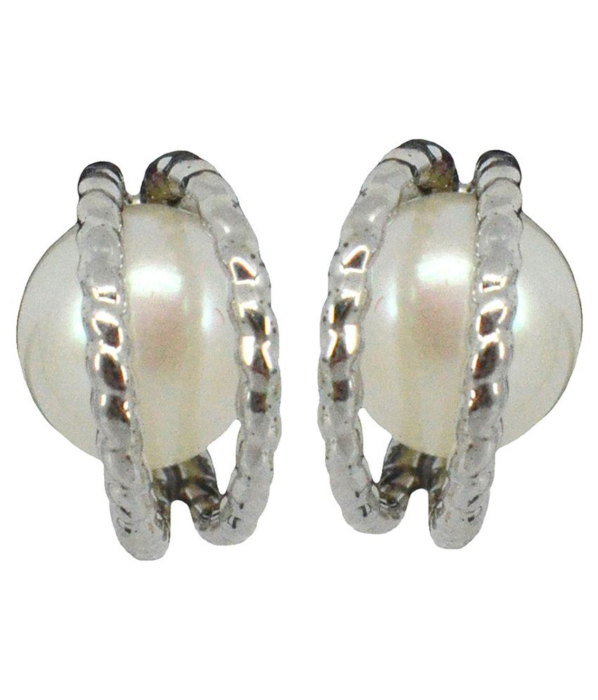 Saloni Fashion Jewellery White Stud
