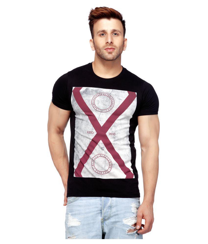 Tinted Black Round T-Shirt