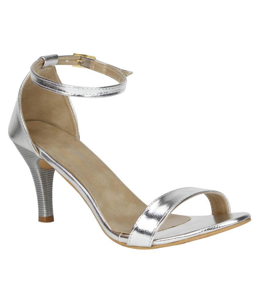 Vagon Silver Stiletto Heels