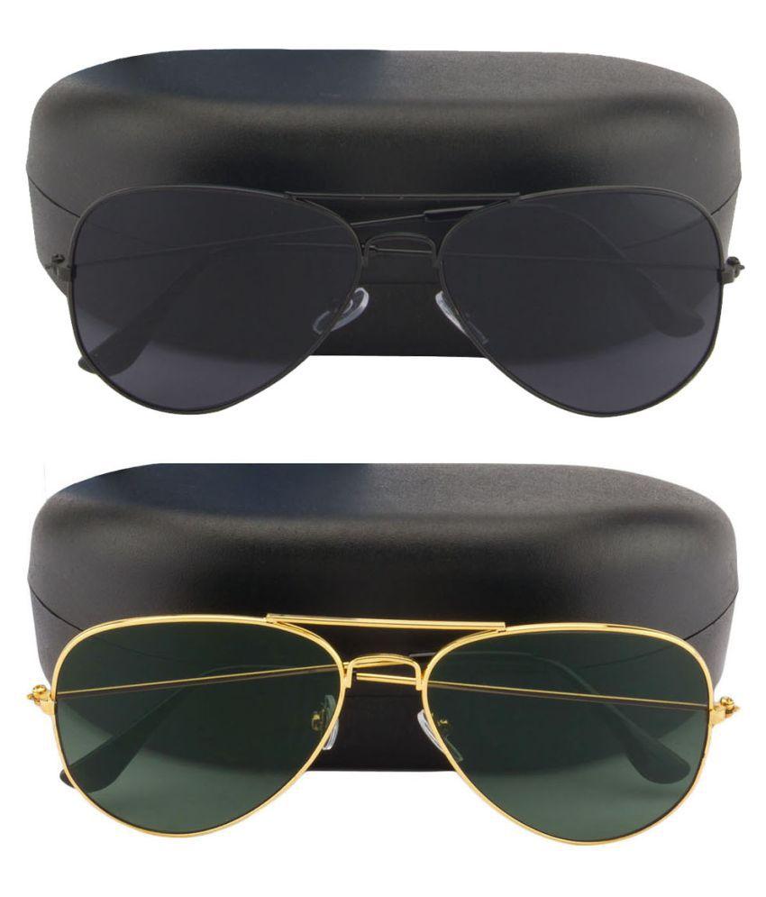 Black Pilot Sunglasses