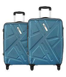 Safari Traffik Anti Scratch Combo Set of 2 Teal Small, Medium Hard Luggage Trolley Bag