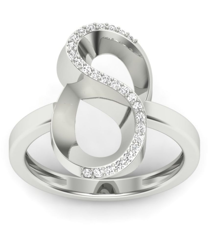 Naitik Jewels 92.5 Silver Cubic zirconia Ring