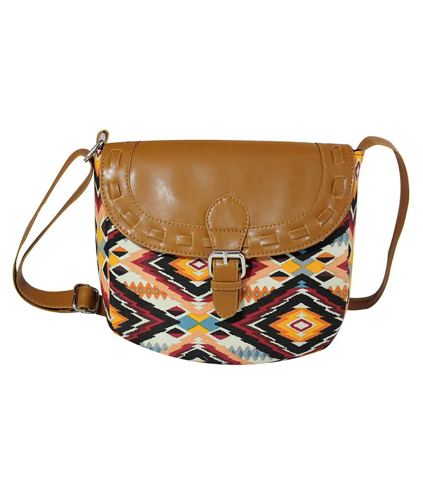 Hanso Collection Multi Canvas Sling Bag
