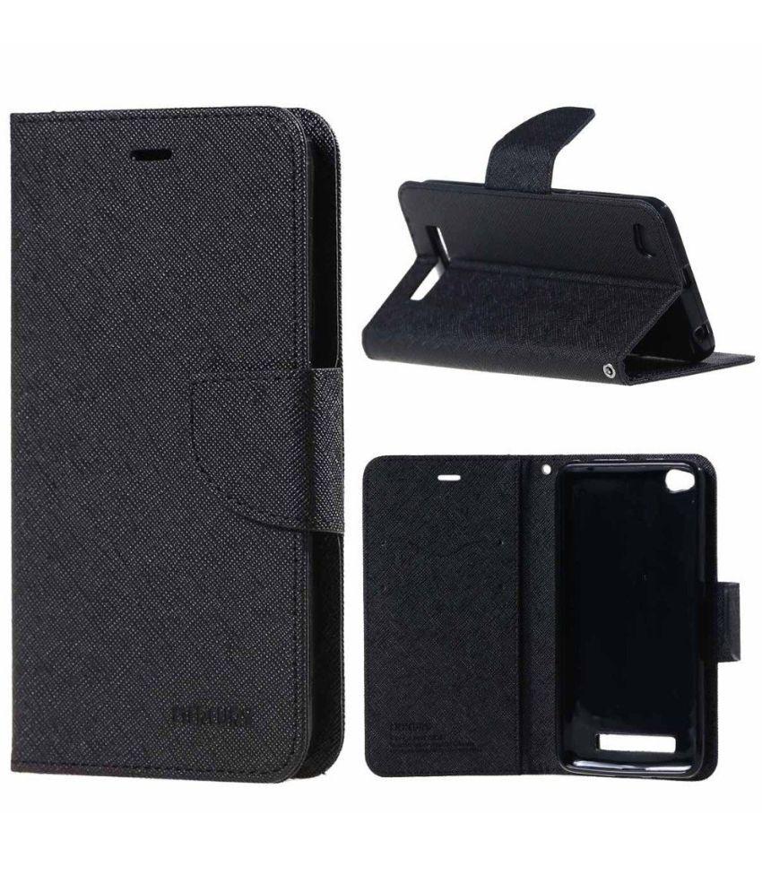 huge discount f3431 7db20 Xiaomi Redmi 4A Flip Cover by Aw Mart - Black