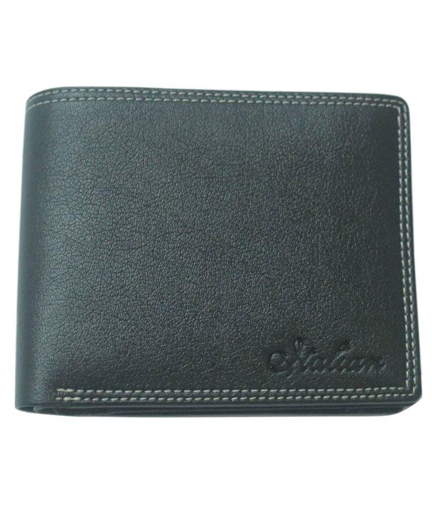 Siltason Shakti Leather Black Casual Regular Wallet