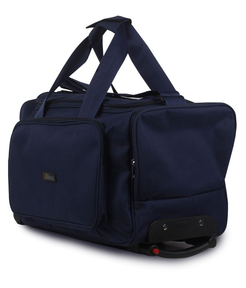 Bleu Amazing Blue 2 Wheel Overnighter Travel Bag with Trolley ...