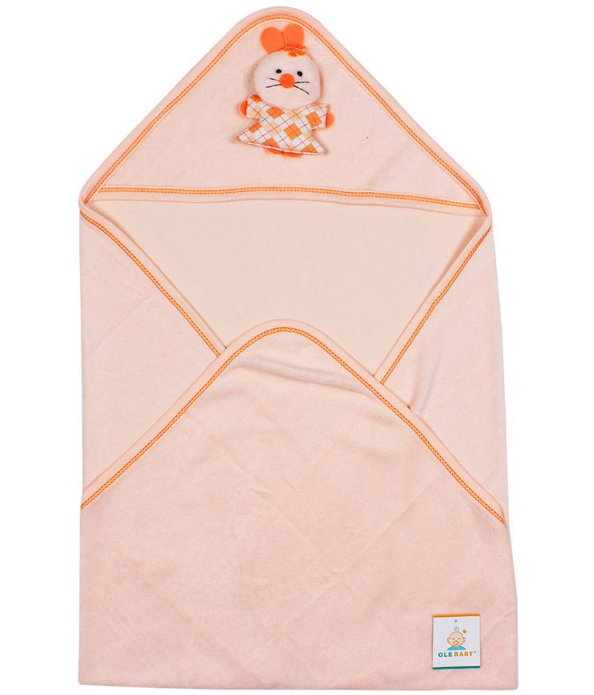 Ole Baby Orange Cotton Bath Towels