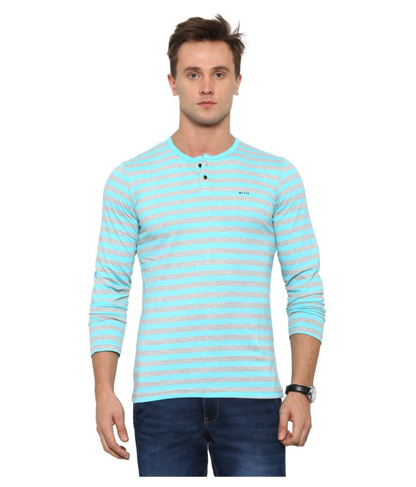 With Multi Henley T-Shirt