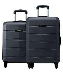 Safari Re-Gloss Anti Scratch Black Set of 2 Small, Medium Trolley Bag Hard Luggage