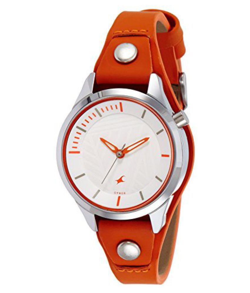 db5572bd7 Fastrack Ladies Orange Analog Watch-6156SL02 Price in India  Buy Fastrack  Ladies Orange Analog Watch-6156SL02 Online at Snapdeal