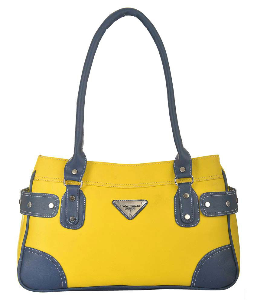 Fostelo Yellow P.U. Shoulder Bag