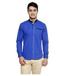 N&CM Blue Casuals Slim Fit Shirt