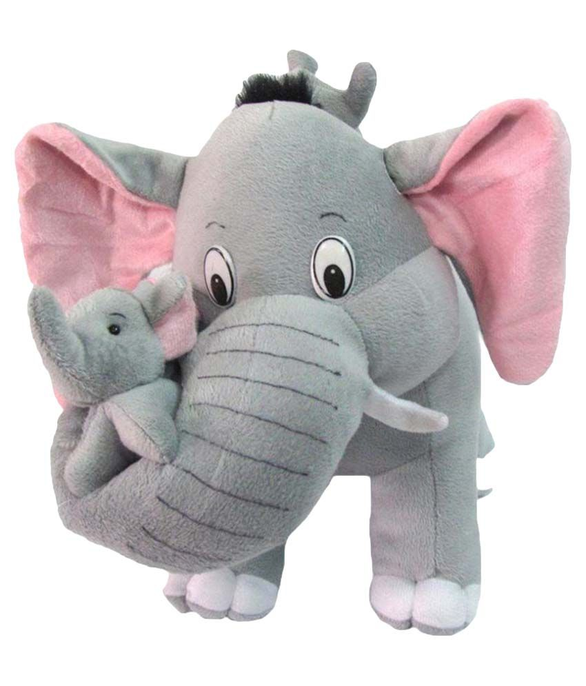 AVS Elephant Mother With 2 Baby (Grey) 40 CM