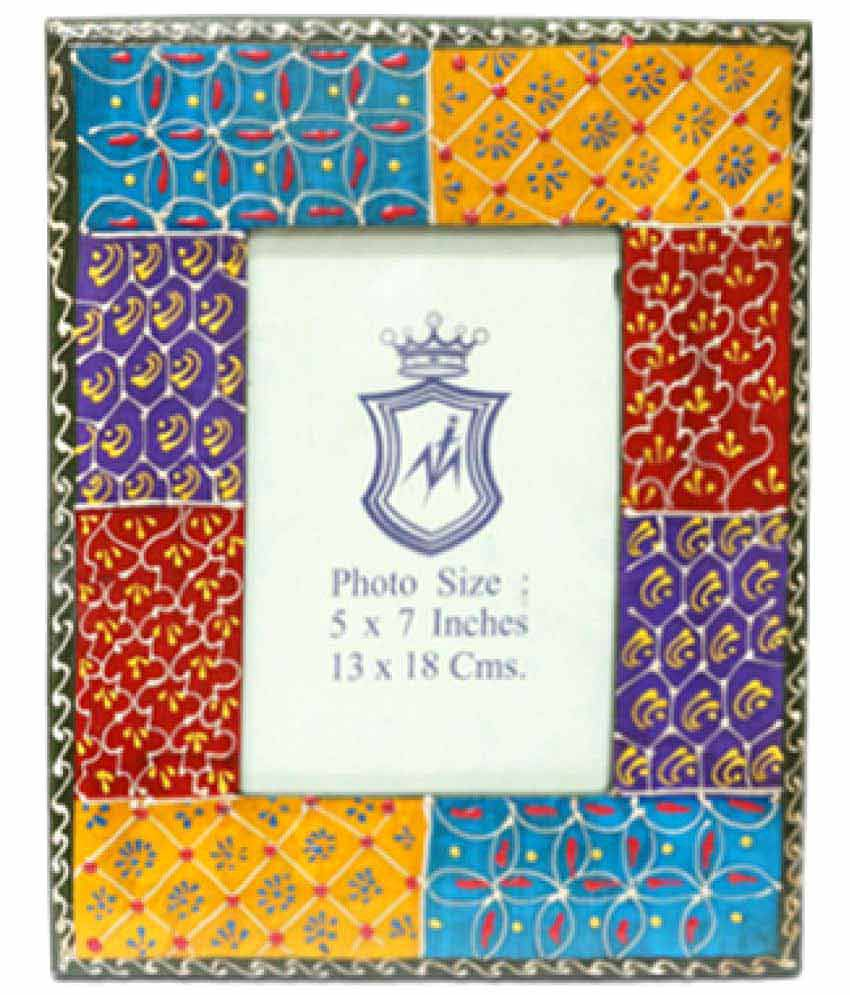Ablaze (India) Wood TableTop Multicolour Single Photo Frame - Pack of 1
