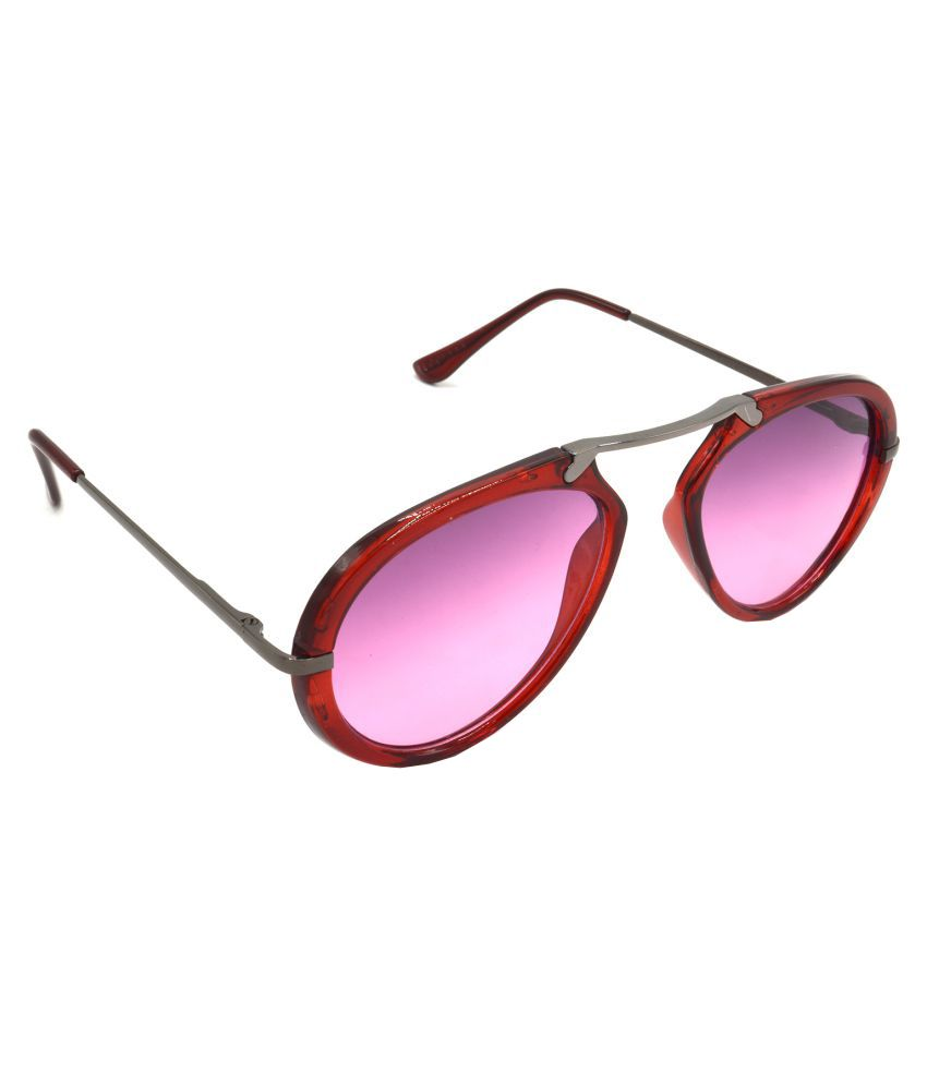 6c936219456e Hrinkar Pink Wrap Around Sunglasses ( HRS427-RD-PNK ) - Buy Hrinkar Pink  Wrap Around Sunglasses ( HRS427-RD-PNK ) Online at Low Price - Snapdeal
